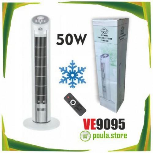 DCG VE9095 Ανεμιστήρας πύργου άσπρος 50W
