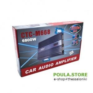 4-Κανάλια 6800 Watt 12V  Ενισχυτής Ισχύος Στερεοφωνικό Αυτοκίνητου 6800W CTC-M668