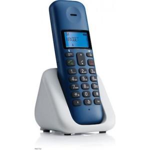 Motorola T301 Ασύρματο Τηλέφωνο με Aνοιχτή Aκρόαση Μπλ