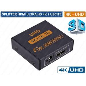 Διαχωριστής HDMI 1x2 splitter QY-S2 ANDOWL 4K 3D