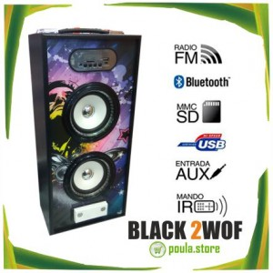 BLACK 2WOF Ηχείο bluetooth - Μπαταρία