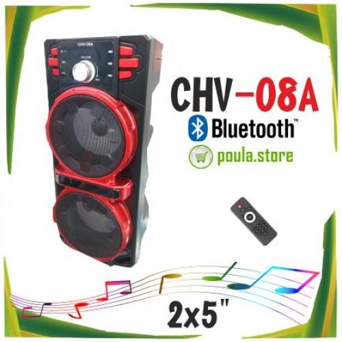 CHV-08A Φορητό Ηχείο Bluetooth με Φωτισμό LED-USB-TF