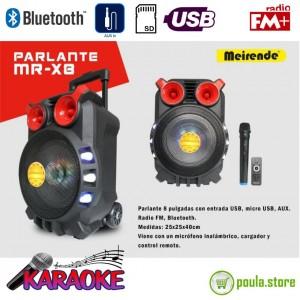 """Φορητό Ηχείο Karaoke 8"""" Meirende X8 80W"""