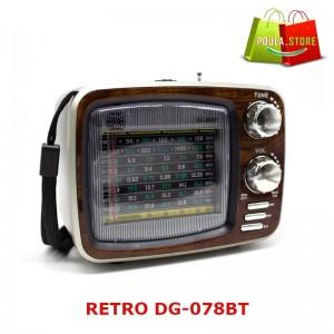RETRO DGQG DG-078BT Ραδιόφωνο Επαναφορτιζόμενο BLUETOOTH USB TF AUX