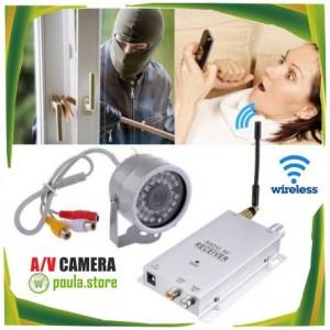 Ασύρματη Κάμερα & Δέκτης Εξωτερικού Χώρου Αδιάβροχη-Νυχτερινή Λήψη 200m.