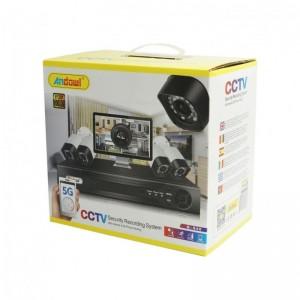 CCTV ΣΥΣΤΗΜΑ ΚΑΤΑΓΡΑΦΗΣ 4 ΚΑΜΕΡΕΣ ANDOWL Q-S40 5G