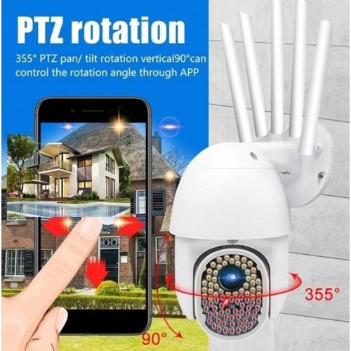 MZWS V380 82 LED 2MP WIFI Κάμερα ασφαλείας WiFi 1080P