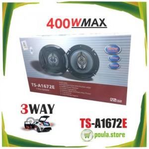 "TS-A1672E 6,5"" Ηχοσύστημα αυτοκινήτου HiWi 400W 3way"