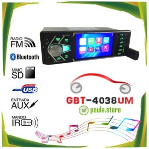 GBT-4038UM ΗΧΟΣΥΣΤΗΜΑ CAR MP5 PLAYER IPS 4.0 TFT 12V