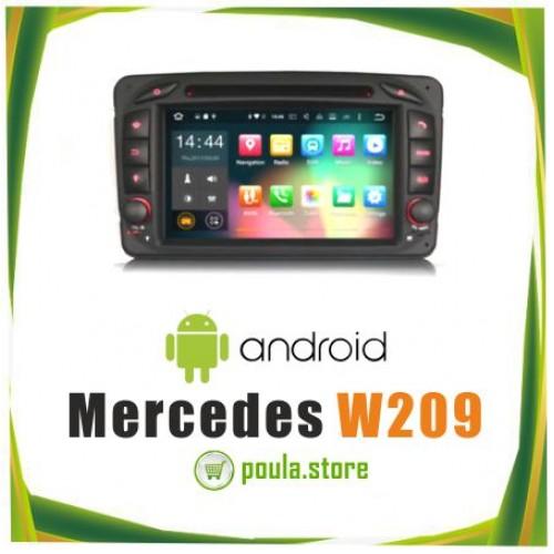 Οθόνη Αυτοκινήτου Mercedes W209 Wifi-Gps-Android