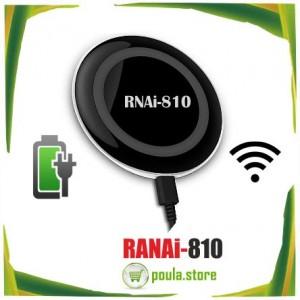 RNAi-810 Ασύρματο μαύρος φορτιστή με 2 θύρες φόρτισης για κινητό-tablet