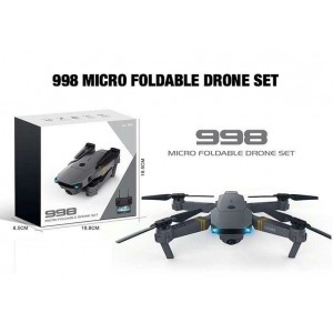 Drone 998 Micro Foldable με κάμερα ευρείας γωνίας HD Quadcopter