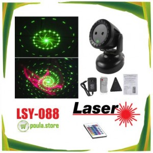 LSY-088 Πολύχρωμο LASER mp3  κινούμενο με ασύρματο τηλεχειριστήριο