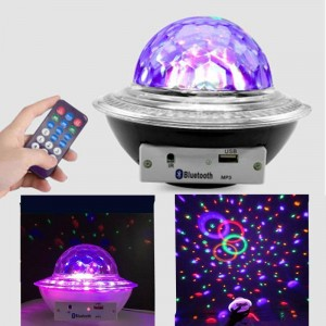 UFO Led Bluetooth Crystal Magic Ball Ηχείο Bluetooth Mp3-Θύρα USB