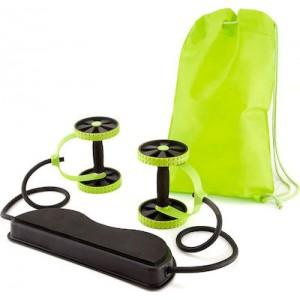 Όργανο γυμναστικής πολλαπλών χρήσεων αντίστασης με ρόδες και λάστιχα - Revoflex Xtreme
