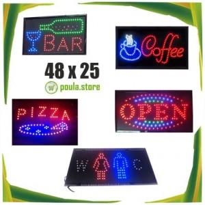 Ηλεκτρονική επιγραφή LED μονής όψης 48x25