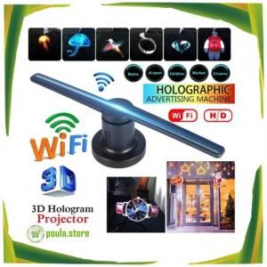 OEM LED προβολέας 3D οθόνη ολογραφικής διαφήμισης Video Wifi-Sd card