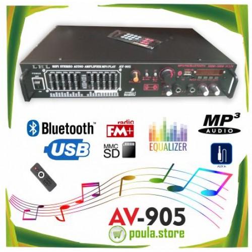 LHL AV-907 Ενισχυτής ήχου 12V Bluetooth 200W