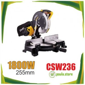 Worksite CSW236 Επαγγελματικό Δισκοπρίονο Πάγκου 1800W  255mm