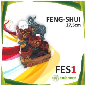 LED ΦΩΤΙΖΟΜΕΝΟ ΣΥΝΤΡΙΒΑΝΙ FES1 FENG SHUI 27.5cm Σχέδιο Ελέφαντας