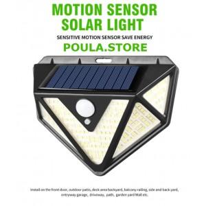 Ηλιακός προβολέας LED CL-166 για κήπο-εισόδους-γκαράζ-μπαλκόνι