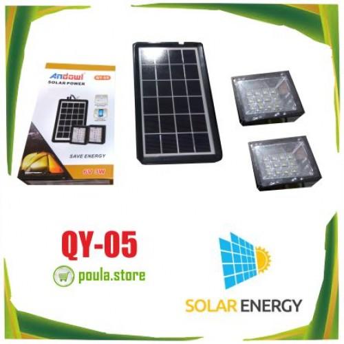QY-05 Μίνι ηλιακό σύστημα φωτισμού με 2 spot Led