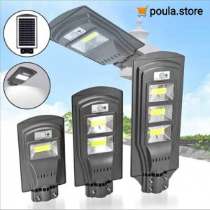 LED Αδιάβροχο Ηλιακό Φωτιστικό - Εξωτερικούς Χώρους - Ανιχνευτή Κίνησης 45W