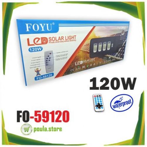 Foyu FO-59120 Φωτοβολταικός προβολέας με αισθητήρα-χειριστήριο 120W