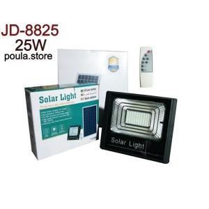 Ηλιακός Solar Προβολέας 25W Φωτοβολταϊκό Πάνελ Τηλεκοντρόλ Χρονοδιακόπτη JD-8825
