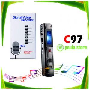 C97 Ψηφιακή συσκευή εγγραφής φωνής 8GB-Mp3