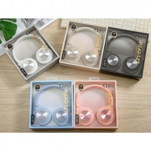 Παιδικά Ακουστικά Κεφαλής GJBY Extra Bass GJ-27/jack 3,5mm - Ροζ