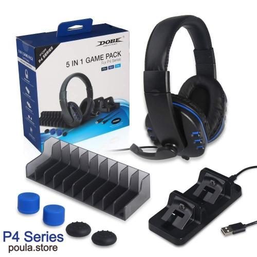 5 σε 1 Ακουστικό με μικρόφωνο για Playstation 4 / PS4 Slim / PS4 Pro