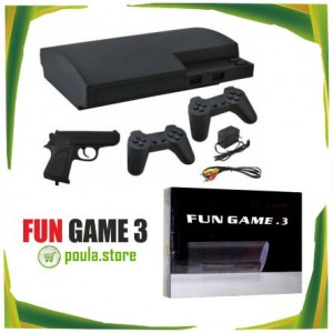 Fun Game 3 Κλασική Κονσόλα παιχνιδιών 8 bit με 2 χειριστήρια και πιστόλι