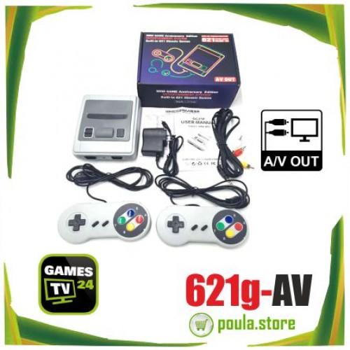 Super Mini SFC Κλασική Κονσόλα παιχνιδιών HD 1080p 621games AV