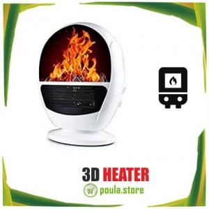 3D HEATER Φορητό θερμαντήρα φλόγας 500W-1500W