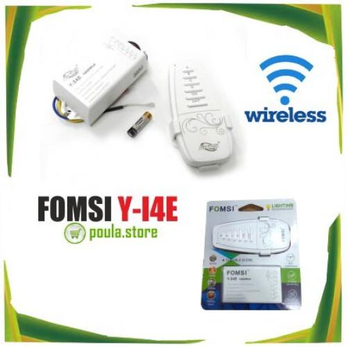 Fomsi Y-I4E Ασύρματο τηλεχειριστήριο - controller φωτισμού on/off με 4 κανάλια φωτισμού