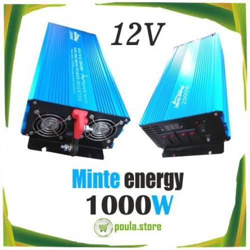 MINTE Inverter 12V σε 220V Καθαρού Ημίτονου 1000W