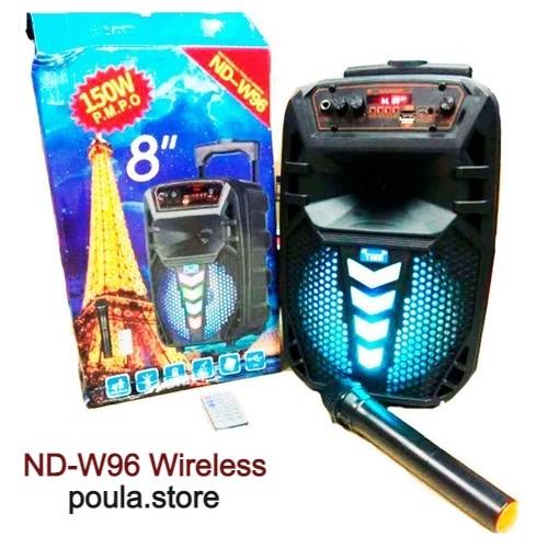 ND-W96 Ασύρματο φορητό ηχείο Bluetooth με ασύρματο μικρόφωνο 30W