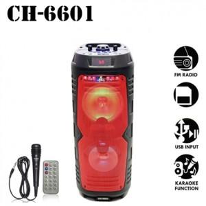 CH-6601 Φορητό Διπλό ηχείο Bluetooth υψηλής ποιότητας 120W LED KARAOKE