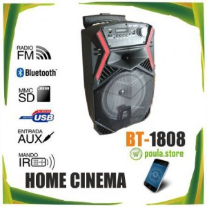 BT-1808 Bluetooth Φορητό Ηχείο HOME CINEMA 60W