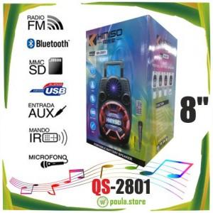 QS-2801 Ασύρματο Φορητό ηχείο Bluetooth-Usb με Μπαταρία 80W