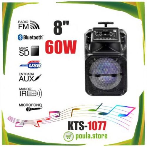 """Ηχείο 8"""" Bluetooth Telecorsa KTS-1077 μεγάφωνο 60W"""