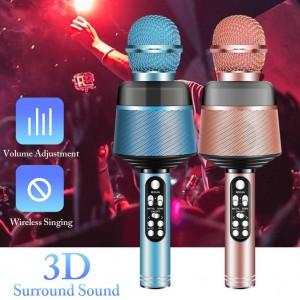 Q008 φορητό μικρόφωνο Bluetooth Karaoke με φώτα που αναβοσβήνουν