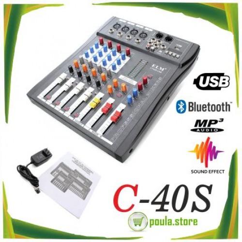 C-40S USB/FX ΚΟΝΣΟΛΑ-ΜΙΚΤΗΣ 4 ΚΑΝΑΛΙΑ GAOLUSHENG