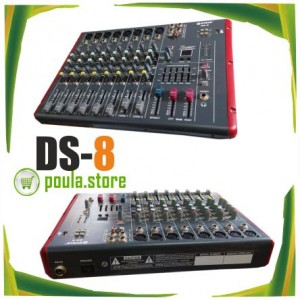 DS-8 Κονσόλα-Mίκτης FX-8CH-USB-MP3