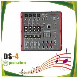 DS-4 Κονσόλα-Μίκτης FX-4CH-USB-MP3