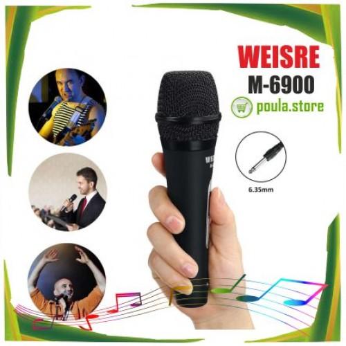 WEISRE M - 6900 ενσύρματο δυναμικό μικρόφωνο - μαύρο