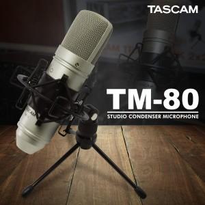 Μικρόφωνο Studio Πυκνωτικό TASCAM TM-80 βάση - καλώδιο