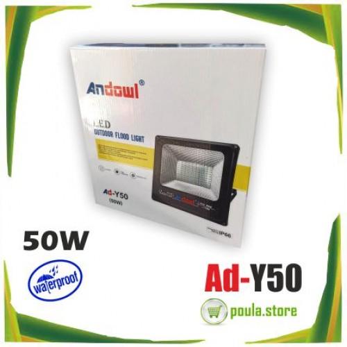 ANDOWL AD-Y50 LED αδιάβροχος προβολέας  50W 220V 6500K IP66