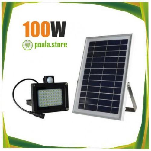 Ηλιακός προβολέας-Υπέρυθρος αισθητήρας κίνησης 100W